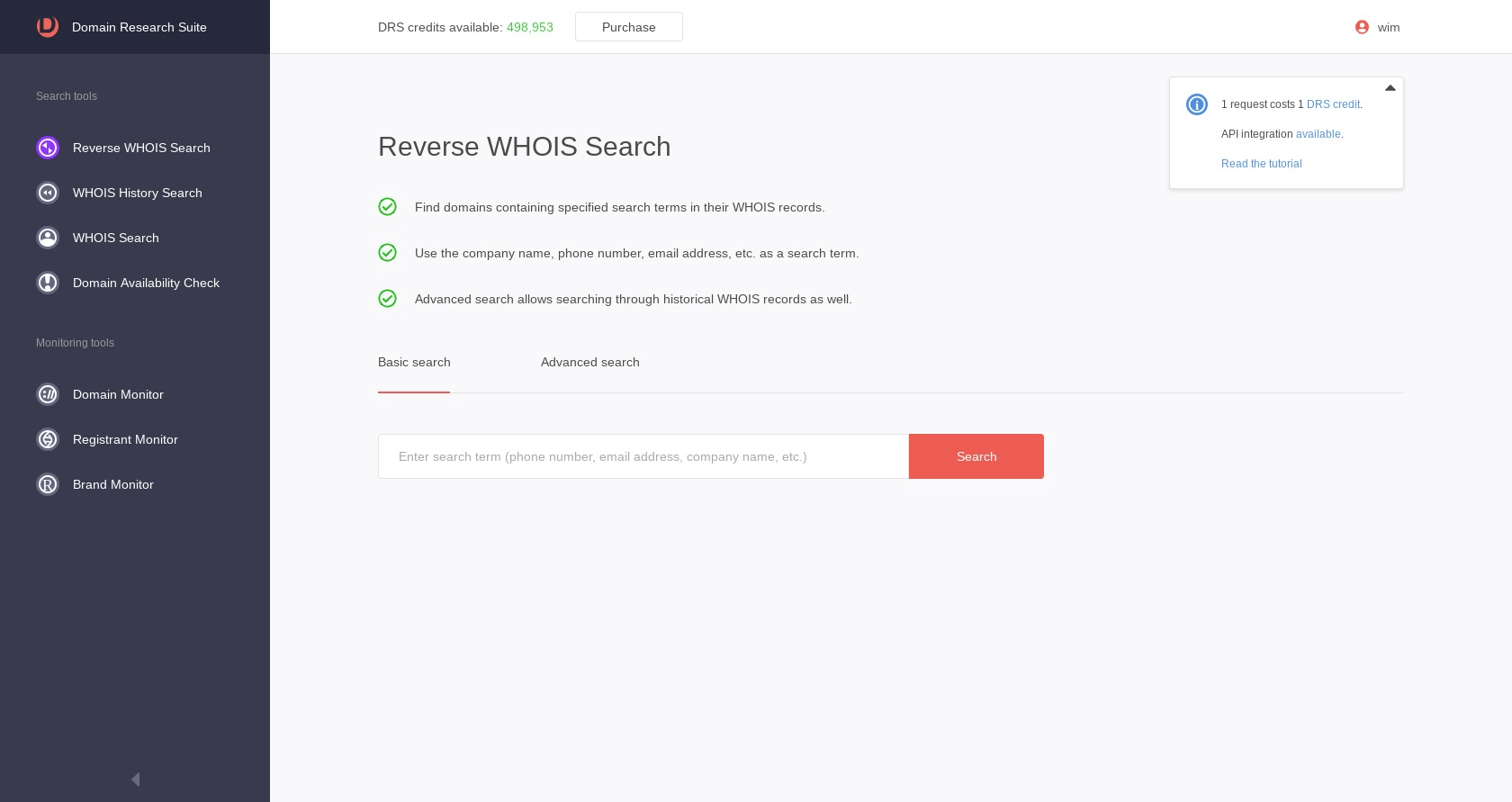 WHOISXMLAPI Domain Research Suite