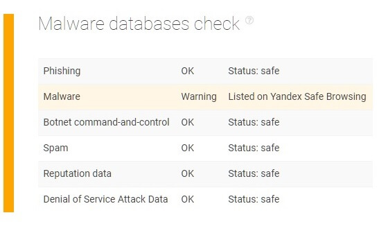 Domain Malware Check API