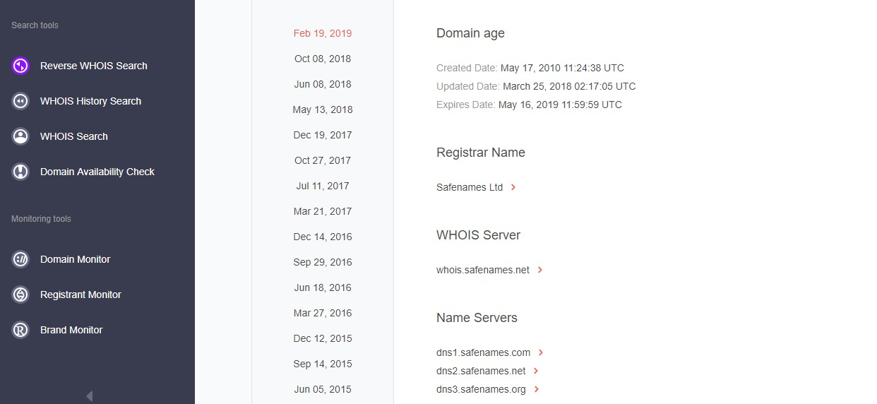 Checking other possibly forged domains